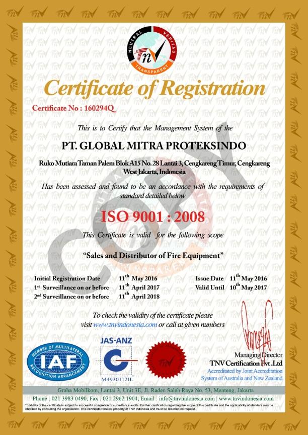 Perusahaan Pemadam Sertifikat ISO / SNI pdf