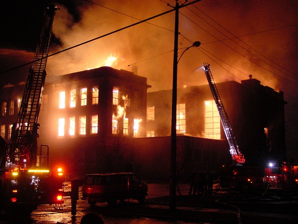 Pemadaman Bangunan Terbakar